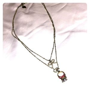 Betsey Johnson ring necklace